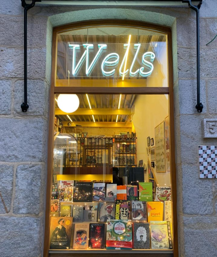 Fachada da Libraría Wells